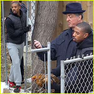 Michael B. Jordan Chases Chickens Under a Time Limit on 'Creed' Set