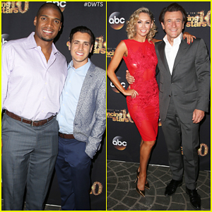 Michael Sam Gets Support from Boyfriend Vito Cammisano at 'Dancing With the Stars' Season 20 Premiere Party!