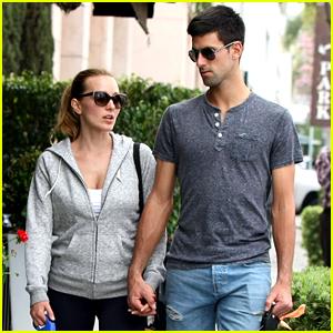 Novak Djokovic Goes for Romantic Dog Walk with Wife Jelena
