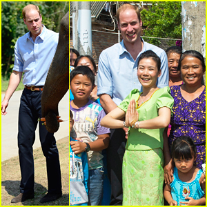 Prince William Meets Locals & Rescued Elephant During Mengman Village Visit!