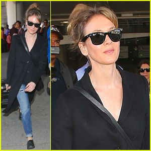 Renee Zellweger Lands Back in L.A. After Paris Fashion Week