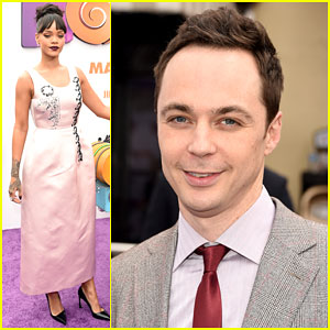 Rihanna & Jim Parsons Premiere 'Home' in Sunny California