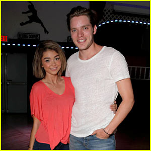 Sarah Hyland & Dominic Sherwood Couple Up at Just Jared's Throwback Thursday Party Presented by Monster High!