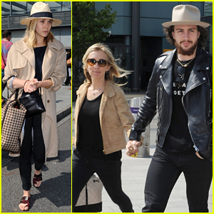 Elizabeth Olsen & Aaron Taylor-Johnson Arrive in London for 'Avengers' Premiere!