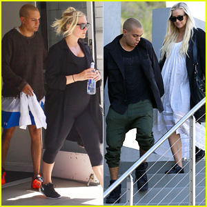 Ashlee Simpson Hits the Gym as Her Due Date Nears