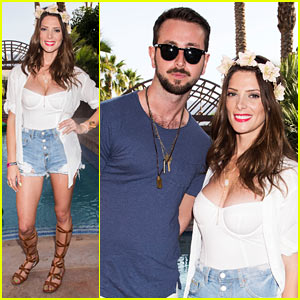 Ashley Greene & Paul Khoury Couple Up at Just Jared's Festival Party Presented by Sonix!