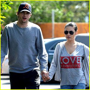 Ashton Kutcher & Mila Kunis Hold Hands for Weekend Errands!