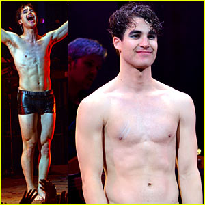 Darren Criss Strips Down Shirtless for First 'Hedwig' Show!