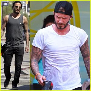 David Beckham S Shirt Turns See Through From Sweat