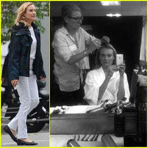 Diane Kruger Films Chanel Commercial in Los Angeles.