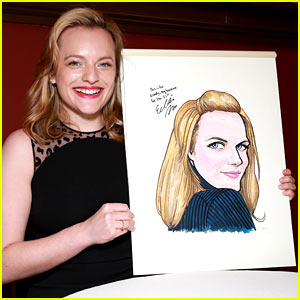Elisabeth Moss Celebrates Tony Nom with a Sardi's Portrait!