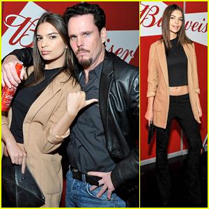Emily Ratajkowski & 'Entourage' Co-star Kevin Dillon Buddy Up at Bud & Burgers Champion Launch!