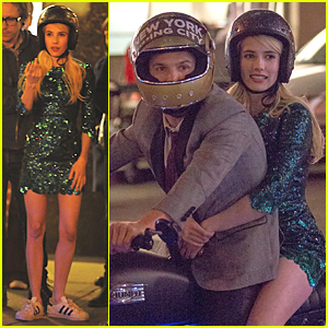 Emma Roberts Has the 'Nerve' to Take Motorcycle Ride