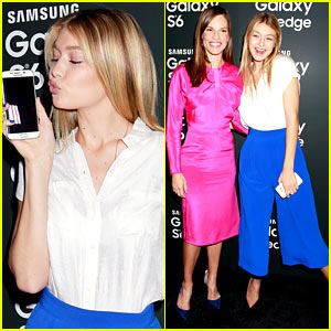 Gigi Hadid & Hilary Swank Become Gal Pals at Samsung Event!