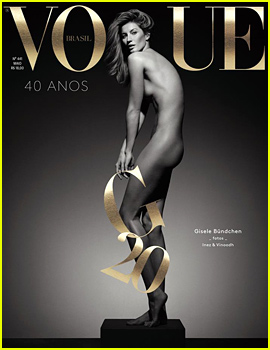 Gisele Bundchen Poses Completely Naked for Vogue Brasil's 40th Anniversary Issue!