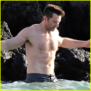 Hugh Jackman Goes Shirtless for Hawaiian Beach Vacation!