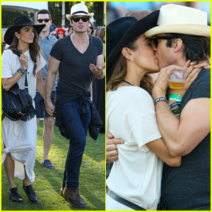 Ian Somerhalder & Nikki Reed Kiss Like Crazy at Coachella 2015