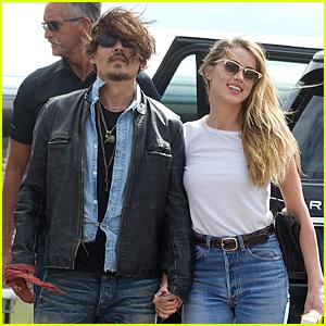 Johnny Depp & Amber Heard Hold Hands For Australian Arrival