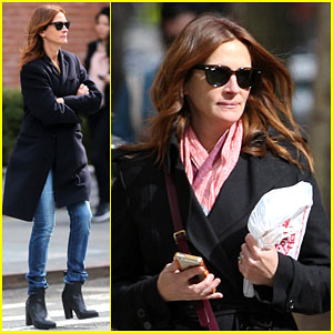 Julia Roberts Takes a Break From Filming 'Money Monster'