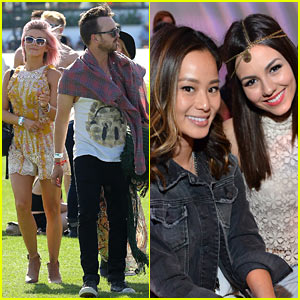 Julianne Hough & Aaron Paul Hang Out at Coachella Day One