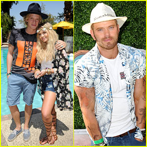 Kellan Lutz Covered His Body in Fake Tattoos for Coachella!