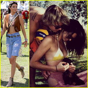 Kendall Jenner Kicks Off Coachella with Justin Bieber PDA!