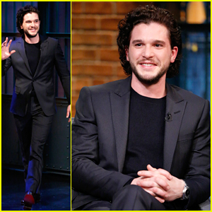 Kit Harington Plays Jon Snow at 'Late Night with Seth Meyers' Dinner Party - Watch The Skit Here!