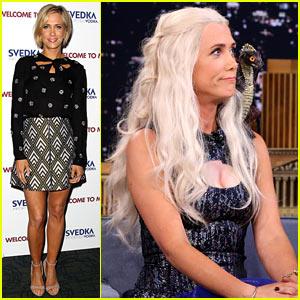 Kristen Wiig Dresses as Khaleesi for 'Jimmy Fallon' Interview!