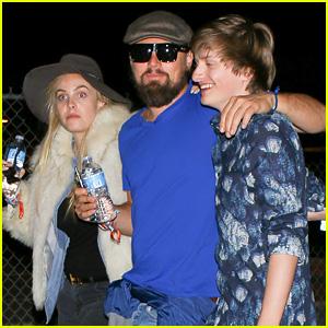 Leonardo DiCaprio Hits Up Coachella's Neon Carnival