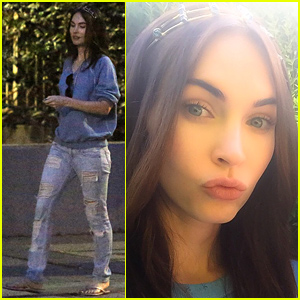 Megan Fox Celebrates Easter with a Crown of Quartz Crystals!