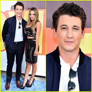 Miles Teller Brings Girlfriend Keleigh Sperry to MTV Movie Awards 2015!