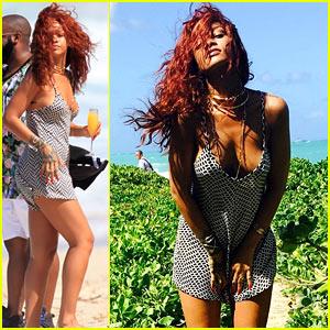 Rihanna Models Her Sexy Beach Looks in Hawaii