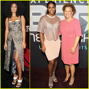 Solange Knowles & Kelly Rowland Put On Their Best for BET New York Upfronts 2015!