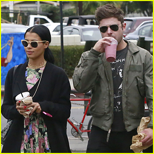Zac Efron & Sami Miro Grab Smoothies To-Go