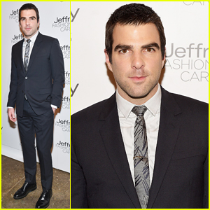 Zachary Quinto Gets Charitable at Jeffrey Fashion Cares 2015!