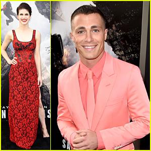 Alexandra Daddario & Colton Haynes Premiere 'San Andreas' in Hollywood