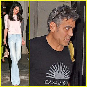 Amal Clooney Visits George On Set of 'Money Monster' | Amal