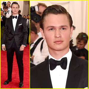 Ansel Elgort Gets Suited Up For Met Gala 2015