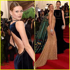 Behati Prinsloo & Candice Swanepoel Are Beautiful Angels at Met Gala 2015