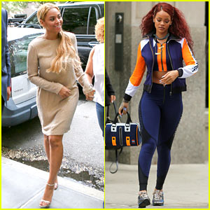 Beyonce & Rihanna Step Out in Style in New York City