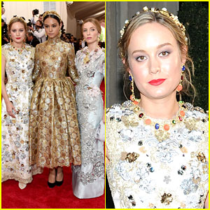 Brie Larson Literally Sparkles at Met Gala 2015