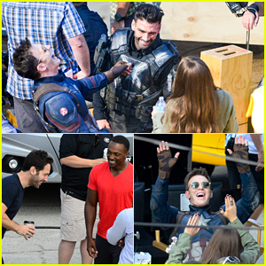 'Captain America: Civil War' Cast Look Like They Had an Amazing Time On Set!