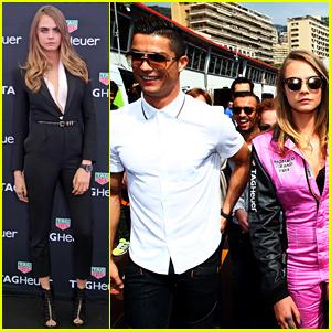 Cara Delevingne Hangs with Cristiano Ronaldo at Grand Prix!