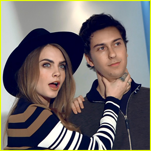 Cara Delevingne & Nat Wolff Take You BTS of Their 'Paper Towns' Photo Shoot! (Exclusive Video)