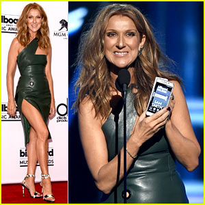 Celine Dion Shows a Ton of Leg at Billboard Music Awards 2015