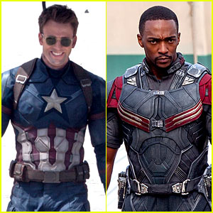 Chris Evans & Anthony Mackie Get to Action on 'Captain America: Civil War' Set!