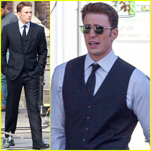 Chris Evans Begins Filming 'Captain America: Civil War' - First On Set Photos!