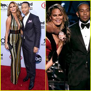 Chrissy Teigen & John Legend Get to Work at Billboard Music Awards 2015!