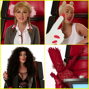 Christina Aguilera Hilariously Impersonates Pop Stars for Funny 'The Voice' Video!