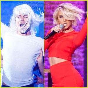 Derek Hough Does Sia's 'Chandelier' on 'Lip Sync Battle'!